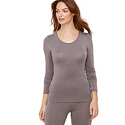 The Collection - Grey long sleeve thermal top