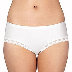 Debenhams - White invisible short knickers