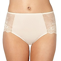 Debenhams - Beige lace invisible briefs
