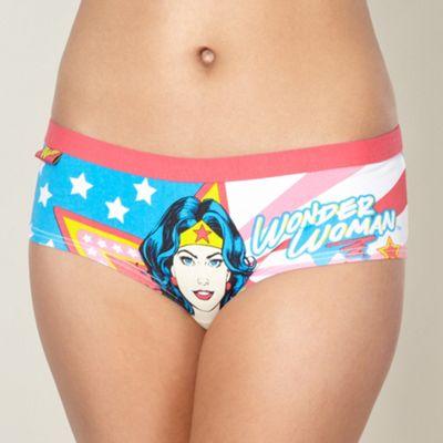 Pink Wonder Woman shorts