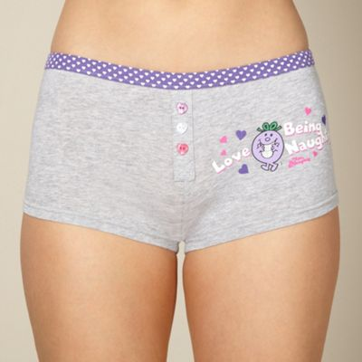 Grey Little Miss Naughty boxers