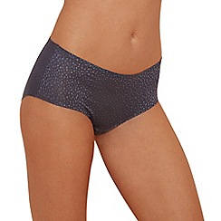 The Collection - Grey spot mesh seamless shorts