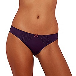 The Collection - Dark purple lace bikini knickers