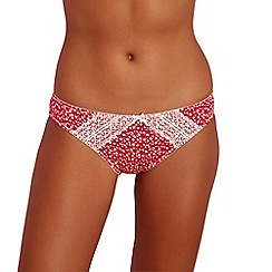 The Collection - Bright pink spot print lace bikini knickers