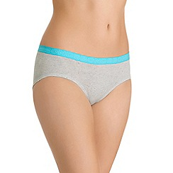 Bonds - Grey cotton rich midi knickers