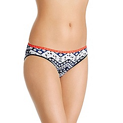 Bonds - Blue chevron print cotton rich bikini knickers
