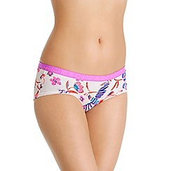 Bonds - Pink bird print cotton rich midi knickers