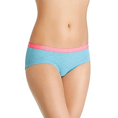 Bonds - Blue cotton rich midi knickers