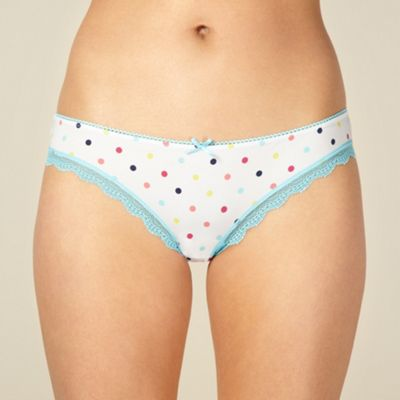 Blue spotted brazilian briefs
