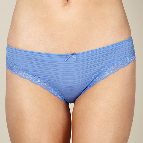 Debenhams - Light blue burnout striped brazilian briefs