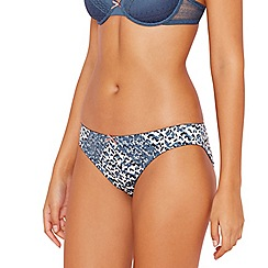 The Collection - Blue animal print bikini knickers