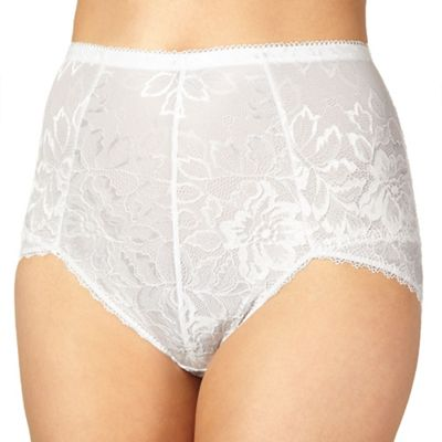 White lace shaping briefs