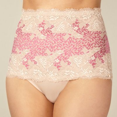 Natural lace shaping low leg briefs