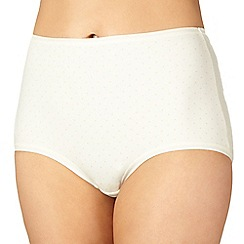 Debenhams - Ivory super soft comfort spotted full briefs