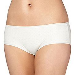 Debenhams - Natural spotted invisible shorts