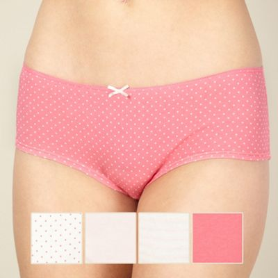 Pack of five pink short briefs