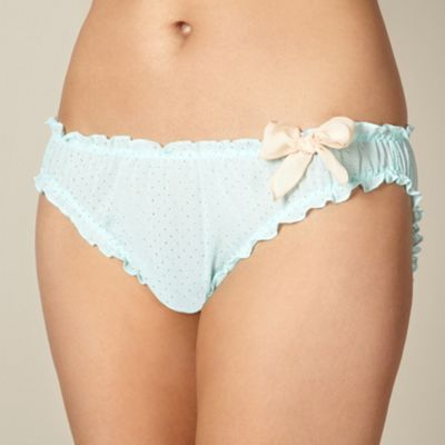 Mint and gold spot scrunch briefs