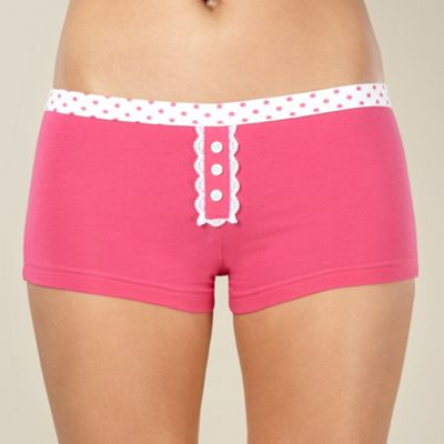 Pink spotted waistband shorts