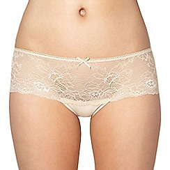 Debenhams - Natural lace front shorts