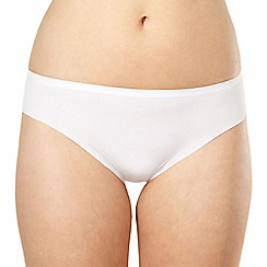 Debenhams - White invisible satin high leg briefs