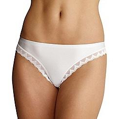 Debenhams - White invisible lace trim thong