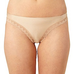 Debenhams - Natural invisible lace trim thong
