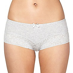 Debenhams - Grey lace short briefs