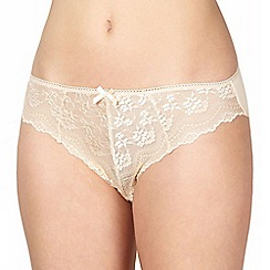 Debenhams - Natural lace high leg knickers