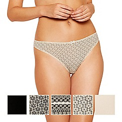 The Collection - 5 pack cotton blend thongs
