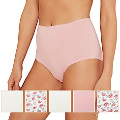 The Collection - 5 pack cotton blend full brief knickers