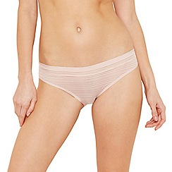 The Collection - Light pink burnout high leg bikini knickers