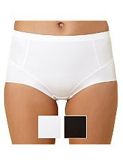 Pack of two white and black shaping briefs