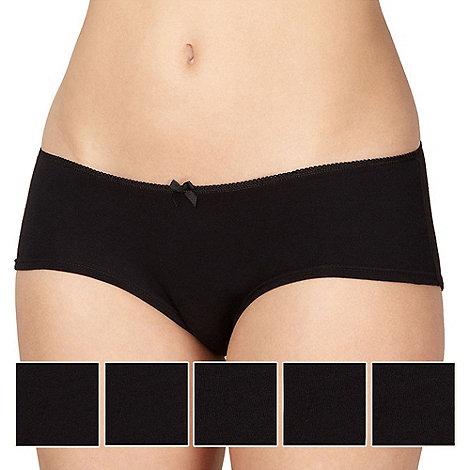 Debenhams - Pack of five cotton black shorts