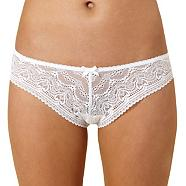 White lace brazilian knickers