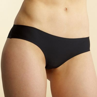 Black Invisible brazillian briefs