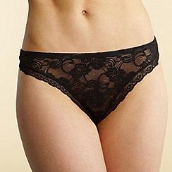 Debenhams - Black invisible lace thong