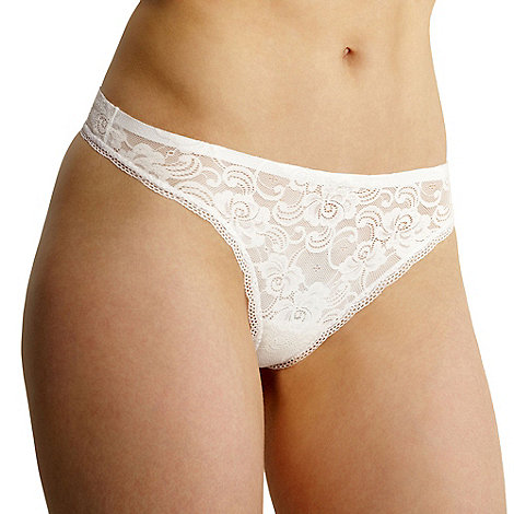 Debenhams - White invisible lace thong