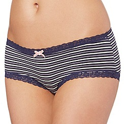 Debenhams - Navy striped modal shorts