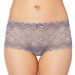 Debenhams - Grey lace front shorts