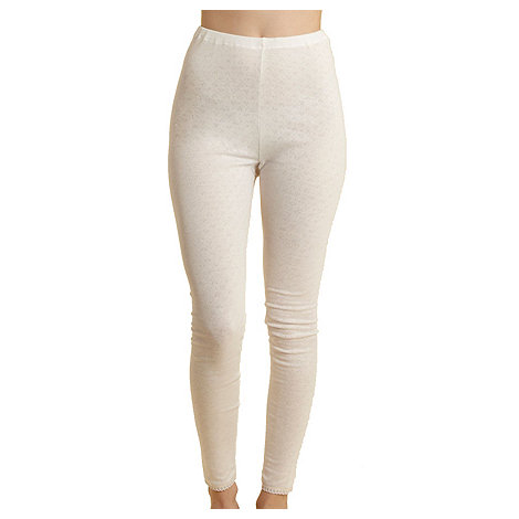 Debenhams - Cream thermal leggings