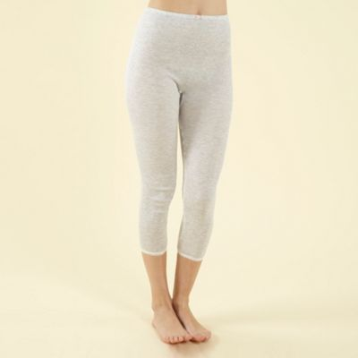 Grey Thermal Capri Leggings