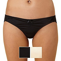 Debenhams - Pack of two brazilian lace briefs