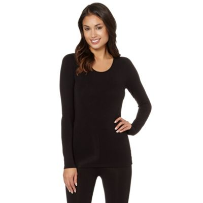 Debenham Black thermal long leeved top - . -
