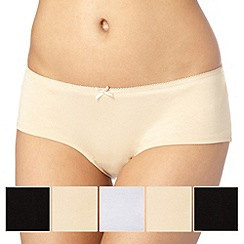 Debenhams - Pack of five cotton natural shorts