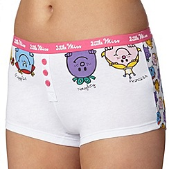 Debenhams - Pink 'Little Miss Mix' boxers