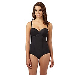 Debenhams - Black firm control fuller bust body