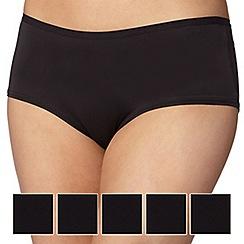 Debenhams - Pack of five black microfibre shorts