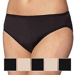 Debenhams - Black microfibre high leg brief