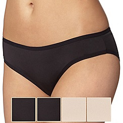 Debenhams - Pack of five black microfibre bikini briefs