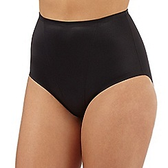 Debenhams - Black low leg firm control briefs